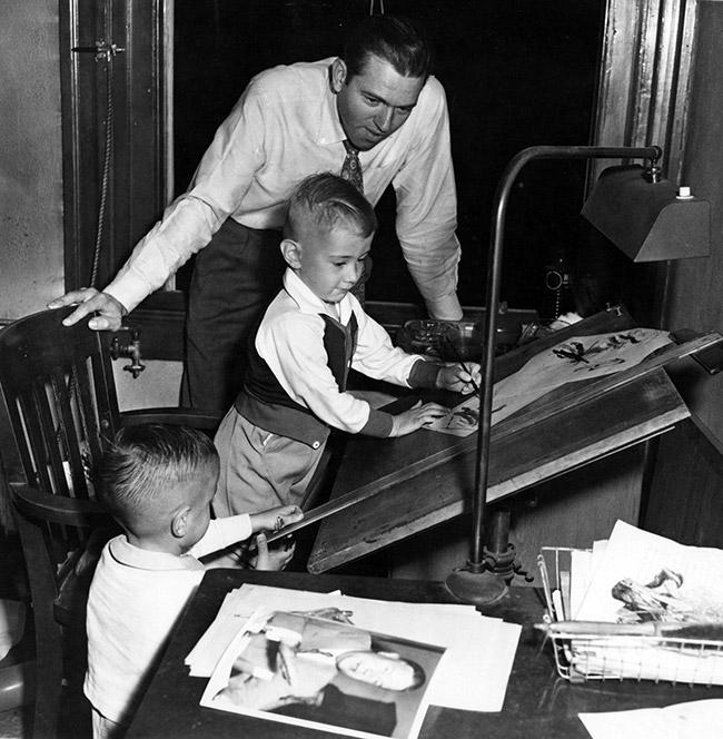 Jon Kennedy with Children