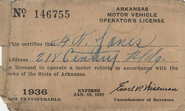 Jones's License