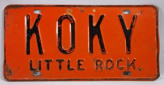 KOKY License Plate