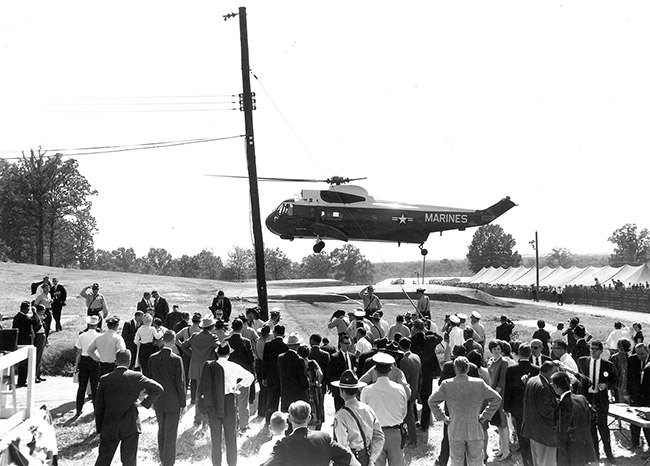 President Kennedy's Arrival at Greers Ferry