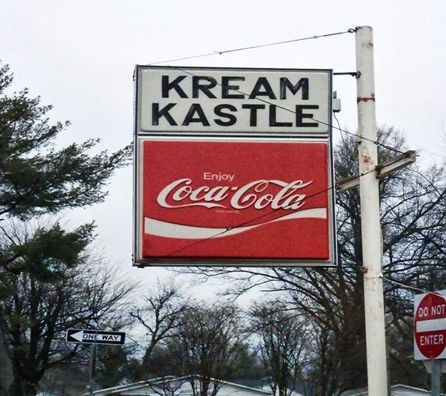 Kream Kastle Sign