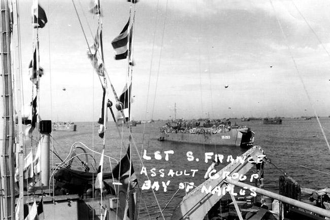 USS Benton County in Italy