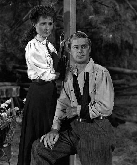 Alan Ladd and Brenda Marshall