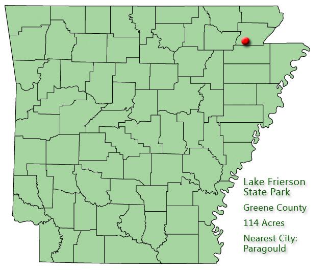 Lake Frierson State Park: Park Location