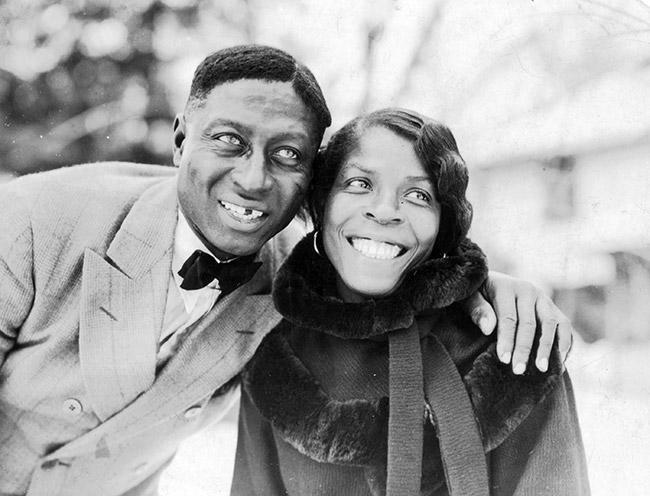 Huddie (Leadbelly) Ledbetter and Martha Ledbetter