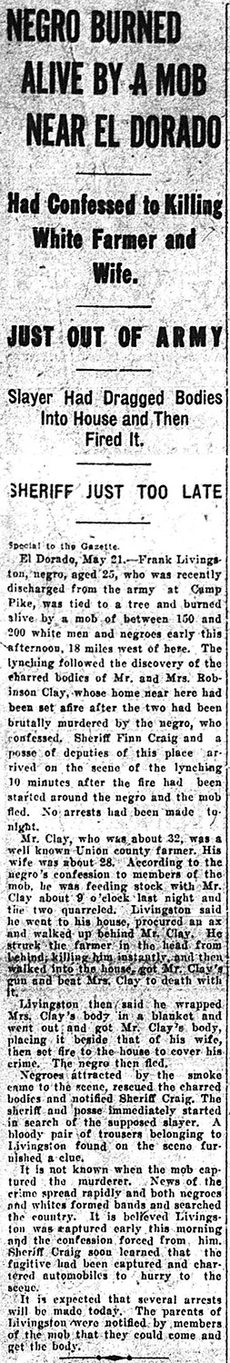 Livingston Lynching Article