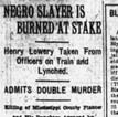 Lowery Lynching Article