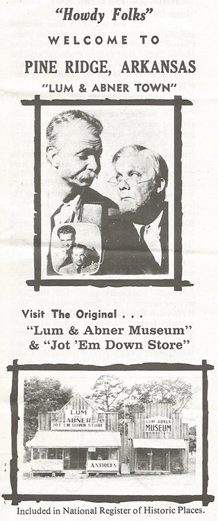 Lum and Abner Museum Brochure