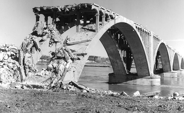 Old Main Street Bridge Demolition