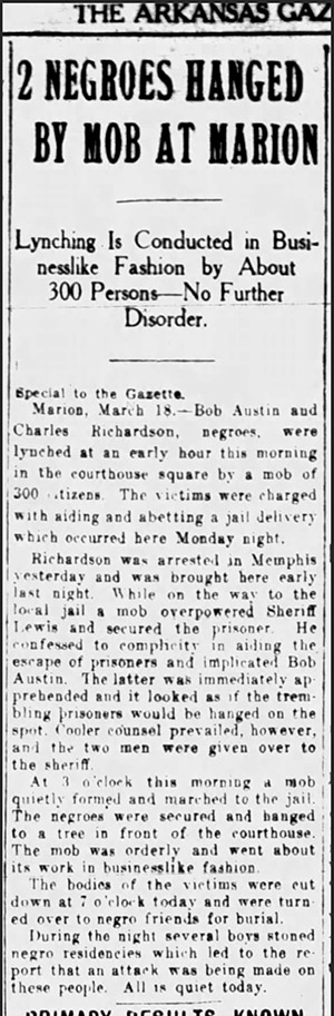 Marion Lynching Article