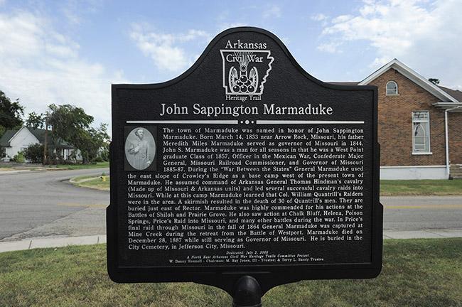 John Sappington Marmaduke Marker
