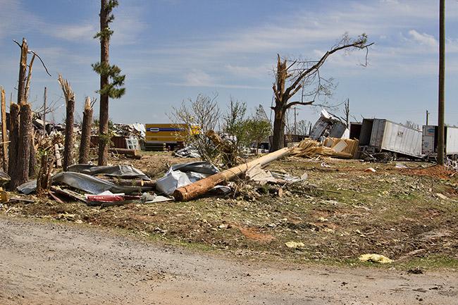 Mayflower Tornado Damage, 2014