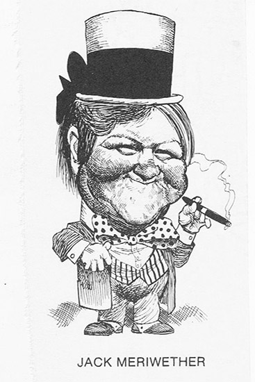 Jack Meriwether Caricature by George Fisher