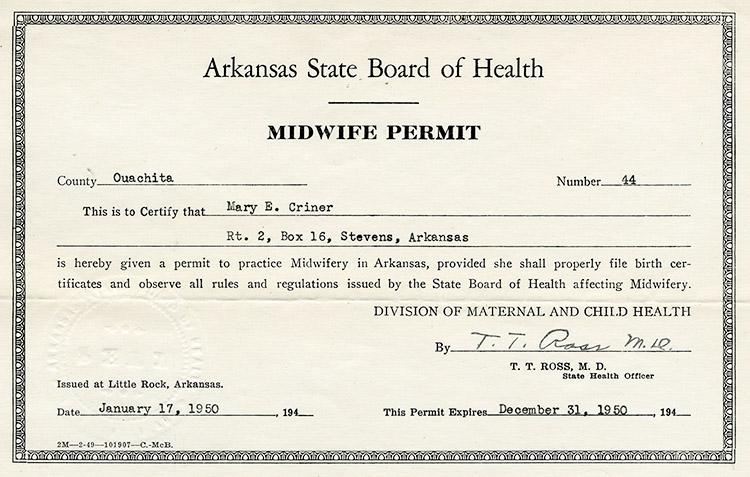 Midwife Permit