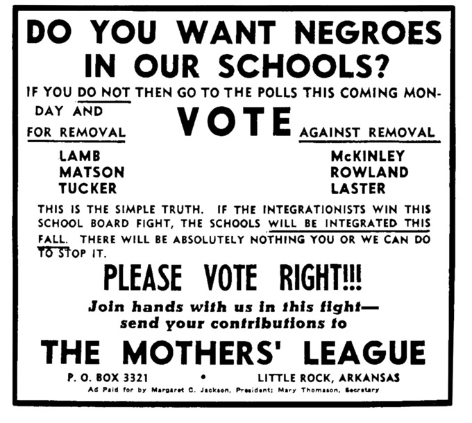 Mothers' League of Central High School Flyer