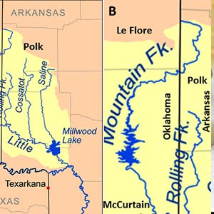 Mountain Fork River Map