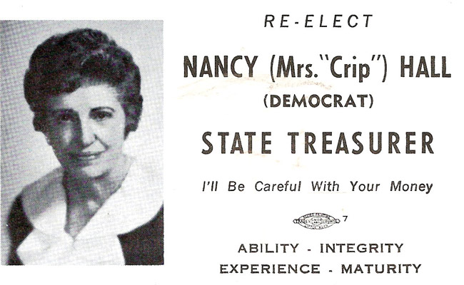 Nancy Hall Campaign Material