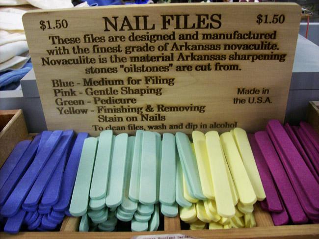 Novaculite Nail Files