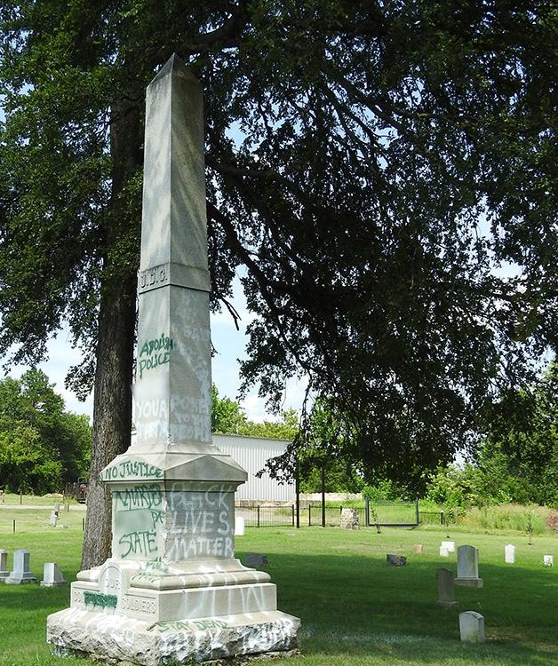 Little Rock Confederate Memorial Vandalism