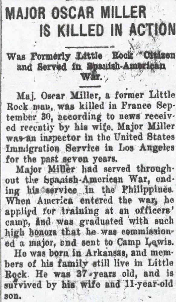 Oscar Miller Death Notice