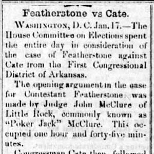 Featherstone v. Cate