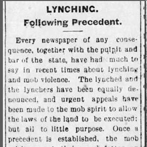 Willis Sees Lynching Article