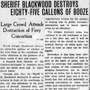 Sheriff Destroys Booze