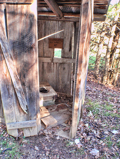 New Deal Outhouse:  Parker-Hickman Farmstead