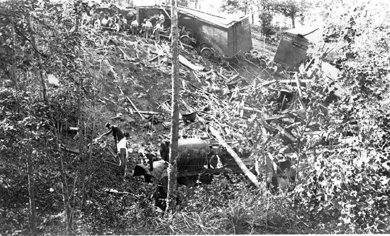 Train Wreck near Siloam Springs