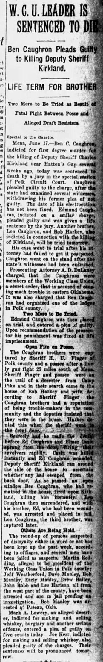 Polk County Draft War Article
