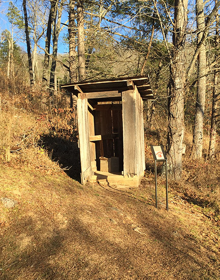 Outhouse in Big Buffalo Valley Historic District