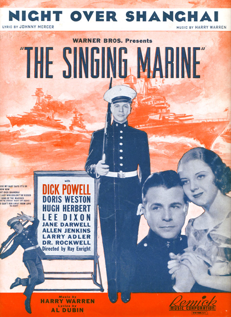 The Singing Marine Sheet Music Featuring Dick Powell
