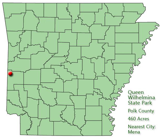 Queen Wilhelmina State Park: Park Location