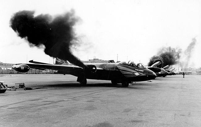 RB-57 Engine Startup