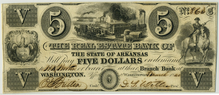 Real Estate Bank Note, 1840