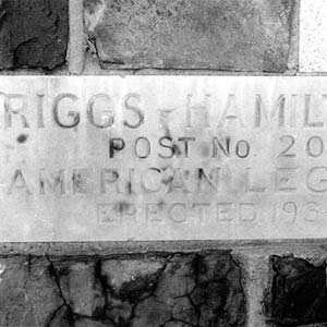 Riggs-Hamilton Legion Post Cornerstone
