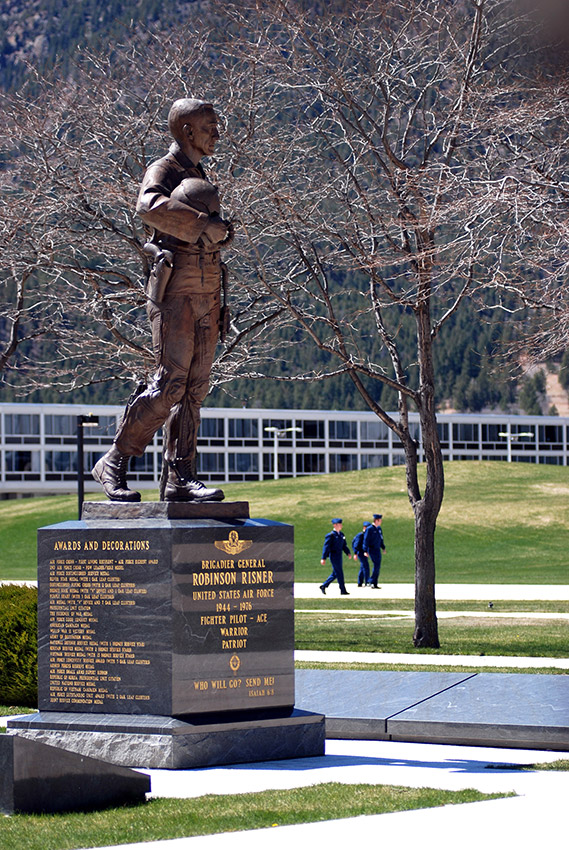James R. Risner Statue