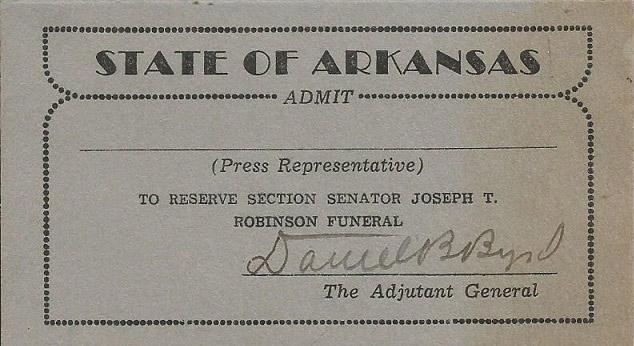 Funeral Ticket