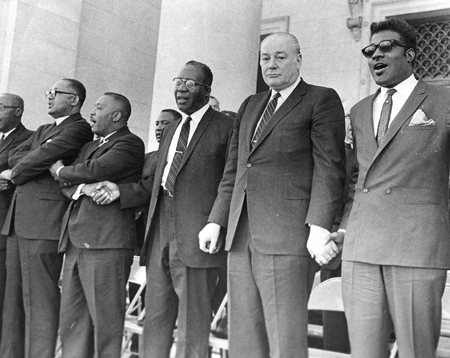 Governor Rockefeller at Martin Luther King Jr. Memorial