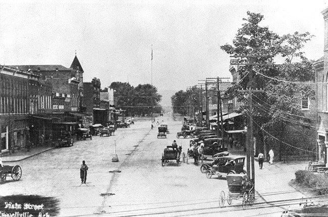 Downtown Russellville, ca. 1918