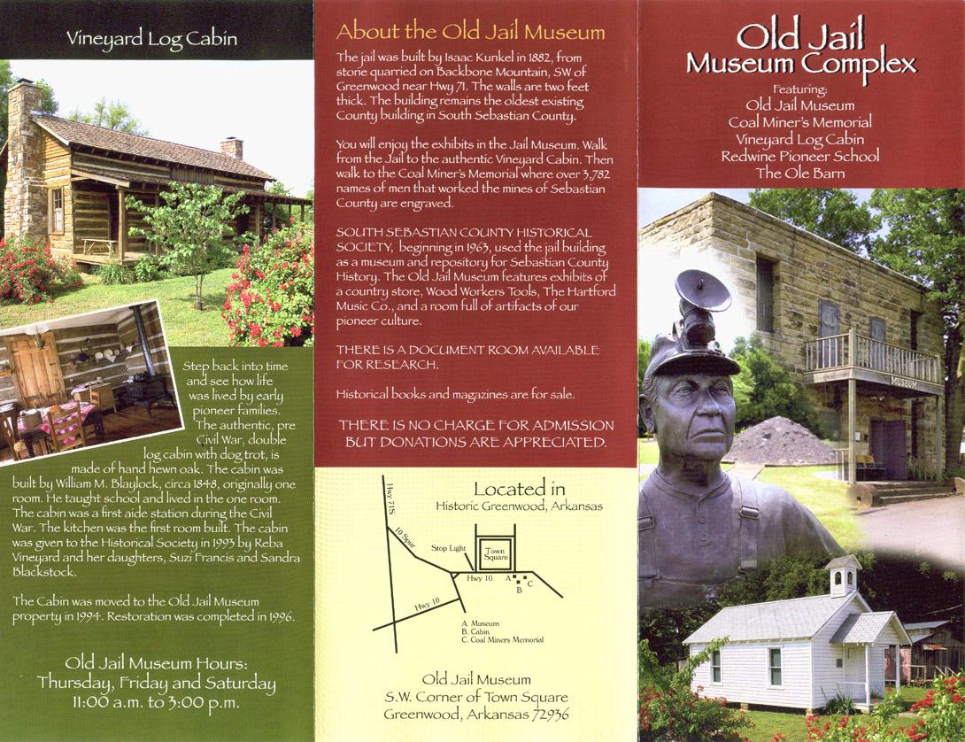 South Sebastian County Historical Society Brochure