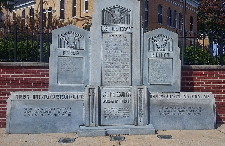 War Memorial at Saline County Courthouse