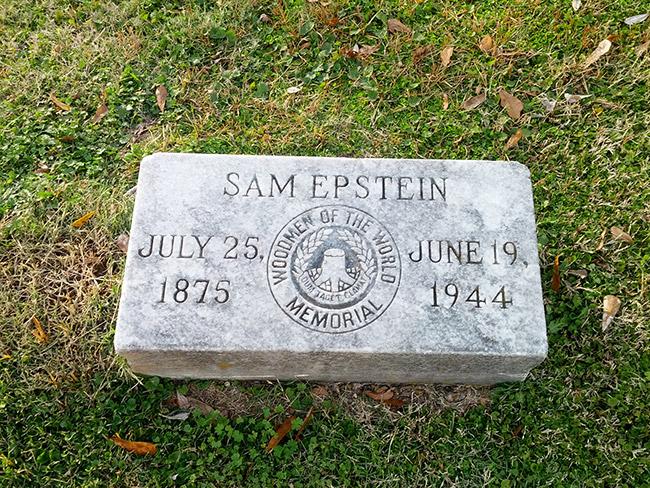 Sam Epstein Headstone