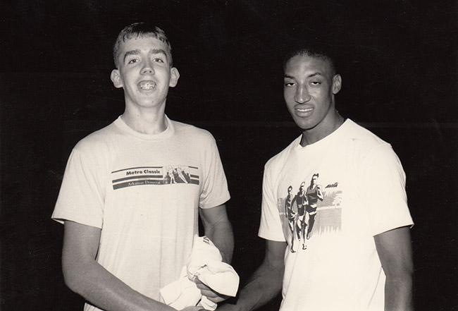 Gary Garrity and Scottie Pippen