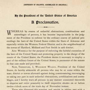 Woodrow Wilson Proclamation