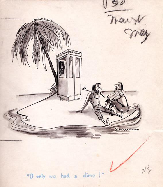 Cartoon drawn by John Sorensen