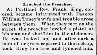 Frank King Lynching Article