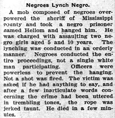 Hellom Lynching Article
