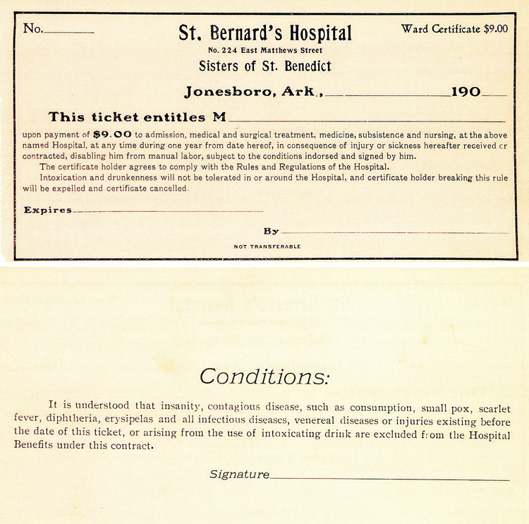 St. Bernards Medical Center Ticket