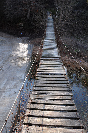 Swinging Bridge at Zinc